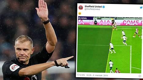 Sheffield Unitedilta vietiin maali äärimmäisen niukan paitsion vuoksi.