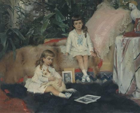 Albert Edelfelt (1854–1905): Lapset. Suuriruhtinaat Boris ja Kirill Vladimirovitš lapsina, 1881.