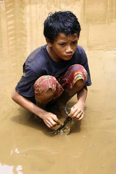 Tulva koetteli tänä vuonna mm. Jakartan asukkaita Indonesiassa.