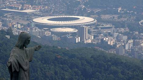 Maineikas Maracana-stadion Rio de Janeirossa.