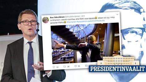 Matti Vanhasen presidentinvaalikampanja kiihtyy.