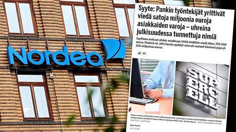 IS kertoi Suomen oloissa poikkeuksellisesta pankkipetosjutusta torstaina. Rikosten uhreiksi joutuivat Nordea ja sen asiakkaat.