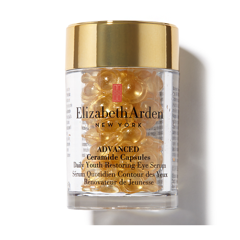 Elizabeth Arden Advanced Ceramide Capsules Daily Youth Restoring Eye Serum, 60 kapselia, mm. 62,40 € / Feelunique, 71 € / Stockmann ja Kicks.