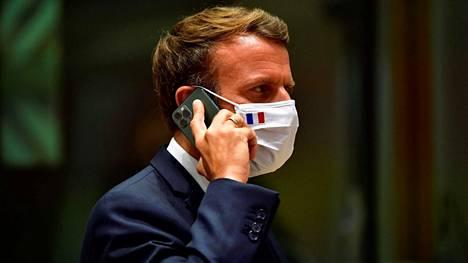 Ranskan presidentti Emmanuel Macron EU-huippukokouksessa 20. heinäkuuta.