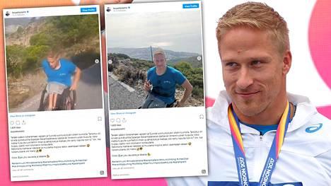 Leo-Pekka Tähti urakoi maanantaina Antennivuoren huipulle. Noin 4,7 kilometrin matka ylämäkeä taittui pysähtymättä.