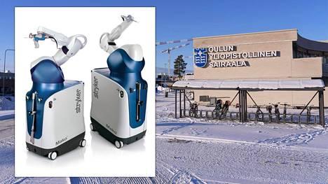 Oulun yliopistollisessa sairaalassa otetaan käyttöön kaksi Mako-robottia.
