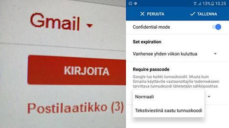 """Gmailissa onnistuu nyt """"turvallisten viestien"""" lähettäminen. Pomminvarmasta suojasta ei kuitenkaan ole kyse."""