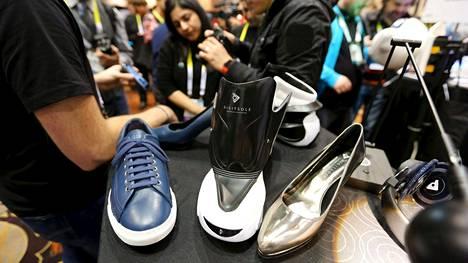Digisole-kenkiä CES-messuilla.