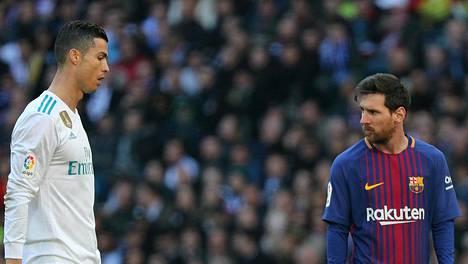 Cristiano Ronaldo (vas.) ja Lionel Messi kohtasivat usein La Ligassa.