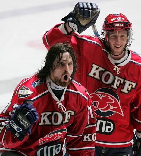 Häppölä (vas.) muistetaan parhaiten HIFK:sta.