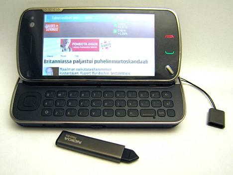 Nokian huippupuhelimen mukana toimitetaan ohjauskynä.