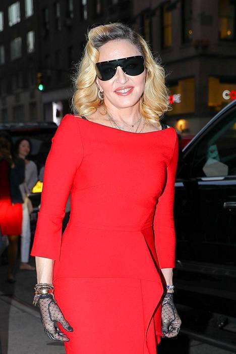 Madonna New Yorkissa.