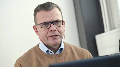 Kokoomuksen puheenjohtaja Petteri Orpo puhui 9. tammikuuta 2021 Helsingissä virtuaalisilla kokoomuksen Puheenjohtajapäivillä.