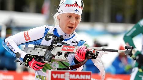 Kaisa Mäkäräinen on vahva ehdokas maailmancupin voittajaksi neljännen kerran.