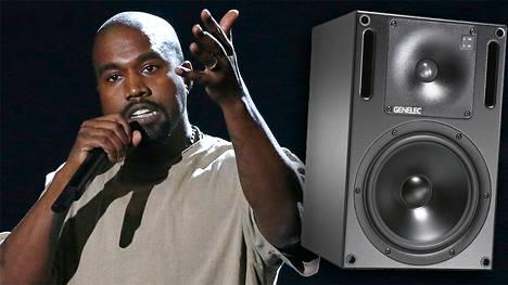 Kanye West luukuttaa mieluiten Genelecin kaiuttimilla.