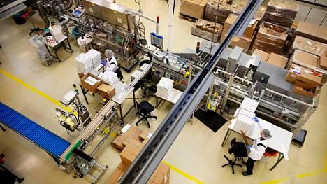 Lumenella on tuotantolaitos pääkonttorinsa yhteydessä Espoossa.