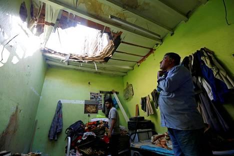 Alasammuttujen ohjusten osat vaurioittivat asujaimistoja Riadissa.