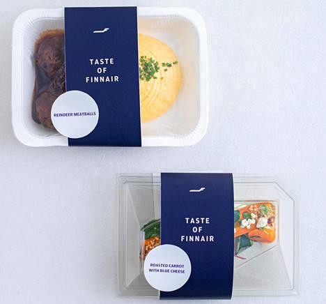 Kaupasta voi ostaa samanlaista ruokaa, jota Finnair tarjoilee bisnesluokan asiakkaille.