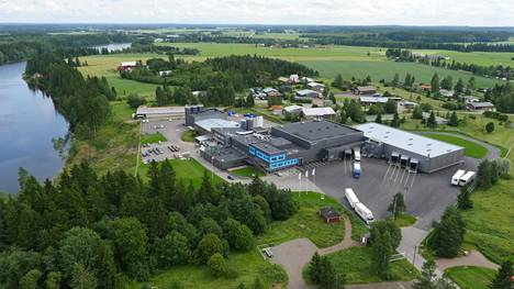 Kaslinkin tehdas Kouvolan Korialla vuonna 2015.