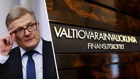 Valtiovarainvaliokunnan mietintö EU:n elpymispaketista valmistui tänään. Kuvassa puheenjohtaja Johannes Koskinen.