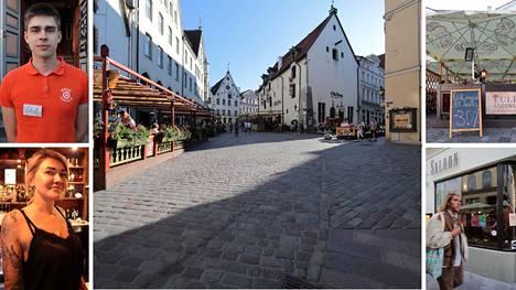 Tallinnan kaduilla oli hiljaista Suomen juhannuksen jälkeisenä maanantai-iltana.