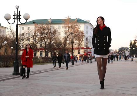 Jekaterina Lisina kääntää taatusti päitä minne tahansa meneekin.