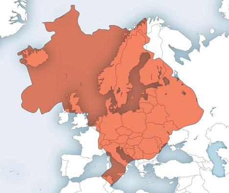 Allistyttava Kartta Paljastaa Maiden Todelliset Mittasuhteet