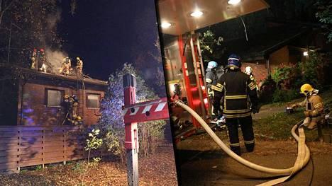 Espoon Tähdenlennontiellä syttyi yön aikana kaksi tulipaloa: Ensimmäisestä palosta annettiin hälytys keskiviikon puolella, toisesta kolme ja puoli tuntia myöhemmin.