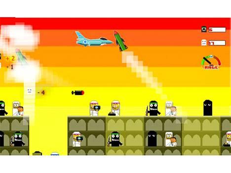 Tämä ruutukaappaus kertoo kaiken Bomb Gaza -pelistä.