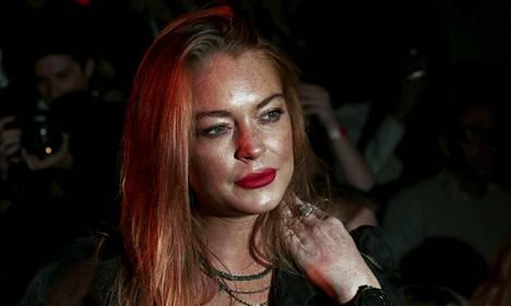 Lindsay Lohan Lontoon muotiviikoilla syyskuussa.