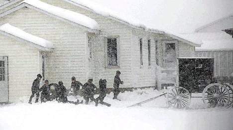Amissit elävät omissa suljetuissa yhteisöissään eri puolilla Yhdysvaltoja. Kuva Kingstonista, Wisconsinista.