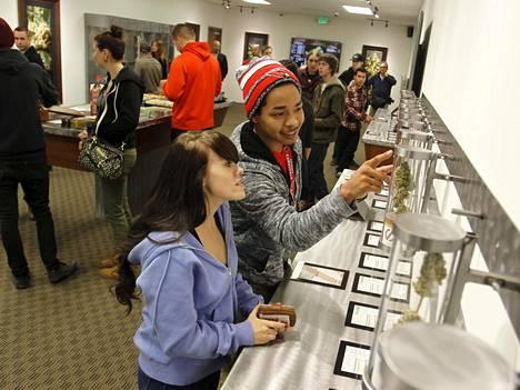 Portlandissa Yhdysvalloissa avattiin kannabistuotteisiin erikoistunut myymälä viime lokakuussa