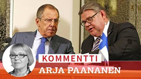 Sergei Lavrov ja Timo Soini tapasivat Oulussa lokakuussa.