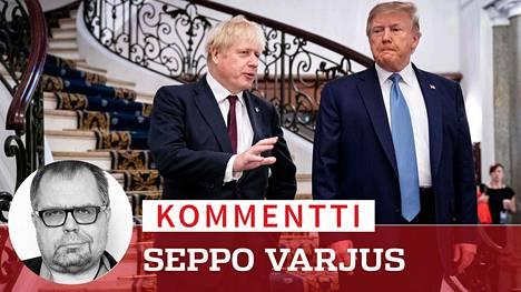 Britannian Boris Johnson ja Yhdysvaltain Donald Trump. Äärisiivet ovat kaapanneet sekä Britannian konservatiivit että Yhdysvaltain republikaanit.