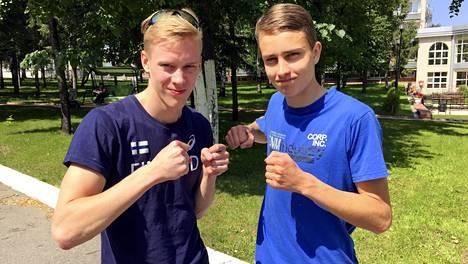 Kristian Pulli (vas.) ja Simo Lipsanen selviytyivät finaaliin.
