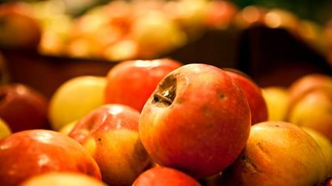Jos kotimaista omenaa ei pysty pesemään ennen syöntiä, myös sen pyyhkiminen liinalla voi riittää.