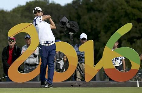 Japanin Shingo Katayama aloitti golfkierroksensa aamuseitsemältä paikallista aikaa.