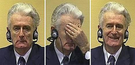 Muutaman kerran Karadzicin kasvoilla välähti hymy.