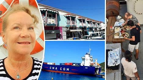 Tyrnäväläisen Anne-Marie Takalon on jäänyt jumiin töihin Karibianmeren saaria kiertelevälle rahtilaivalle.