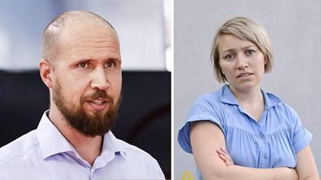 Touko Aalto (vas.) ja Aino Pennanen.
