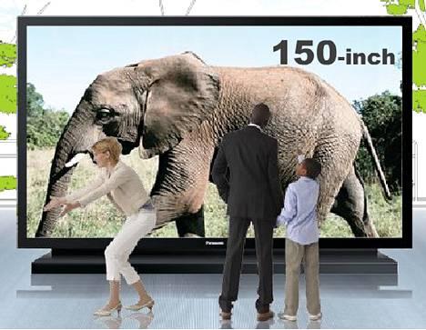 Panasonicin 150 tuuman plasmatelevisio.