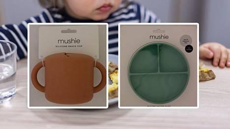 Tulli pyytää maahantuojia vetämään Kiinassa valmistettuja Mushie-merkkisiä lasten lautasia ja mukeja pois markkinoilta.