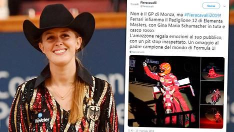 Gina Maria Schumacherin isänpäivän ele keräsi huomiota.