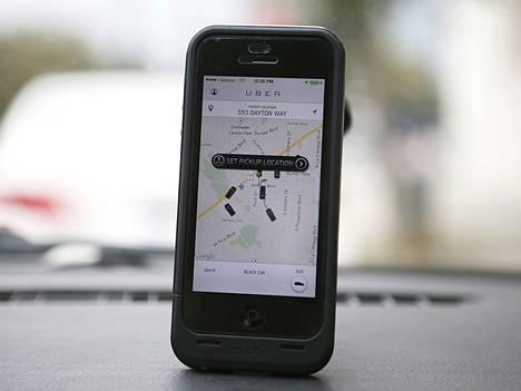 Uber-sovellus iPhonessa.