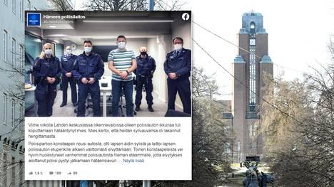 Poliisi kertoi Lahdessa tapahtuneesta tilanteesta Facebook-sivullaan.