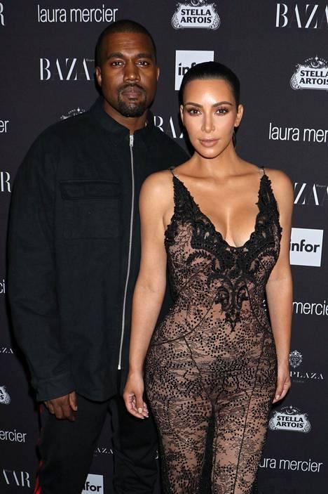 Kanye West ja Kim Kardashian syyskuussa New Yorkissa.