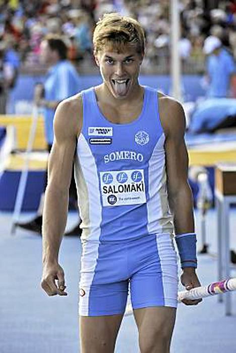 Eemeli Salomäki hyppäsi viime kesänä seipään Suomen mestariksi.