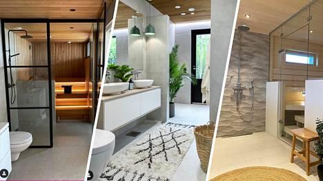 Kuinka kaunis voi kylpyhuone olla! Suomalaiset sisustajat näyttävät mallia.