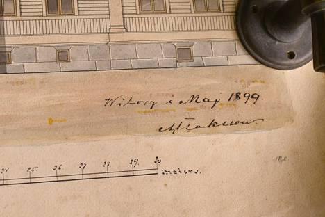 Lempäälästä löytyneet piirustukset ovat vuodelta 1899.