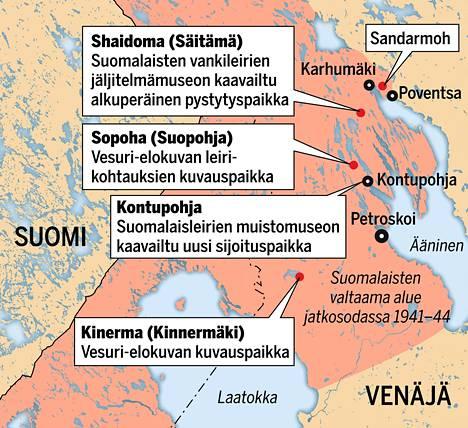 Suomalaisleirien muistomuseon piti nousta ensin Säitämään, sitten Kontupohjaan. Nyt on epäselvää, etsitäänkö leirille lopullinen sijoituspaikka jostain kaupungin laitamilta vai siirretäänkö se vielä jonnekin uudelle paikkakunnalle.